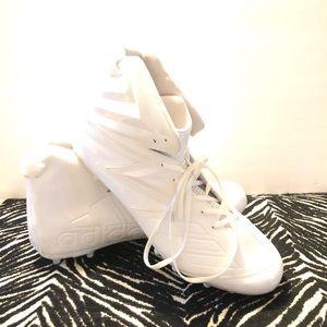 NWOT Adidas Freak Football White Cleats Size 18